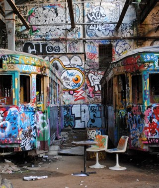 Streetcars and street art